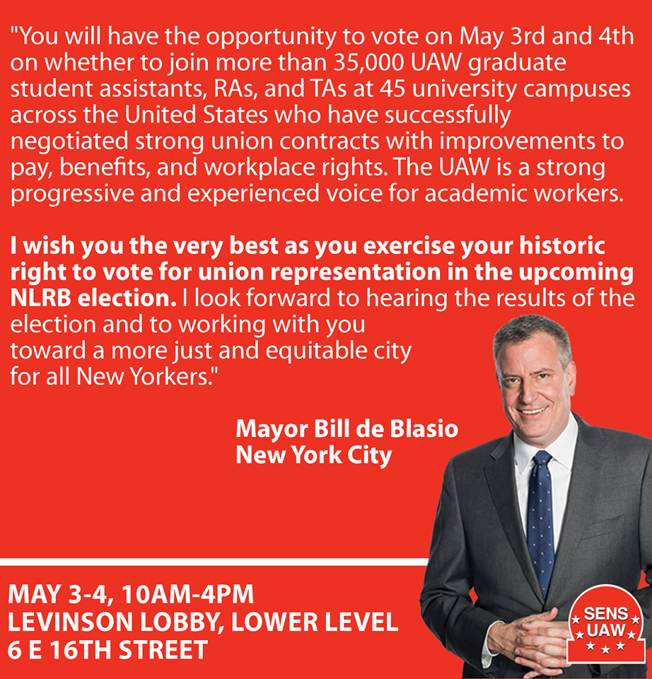 Bill de Blasio Endorsment